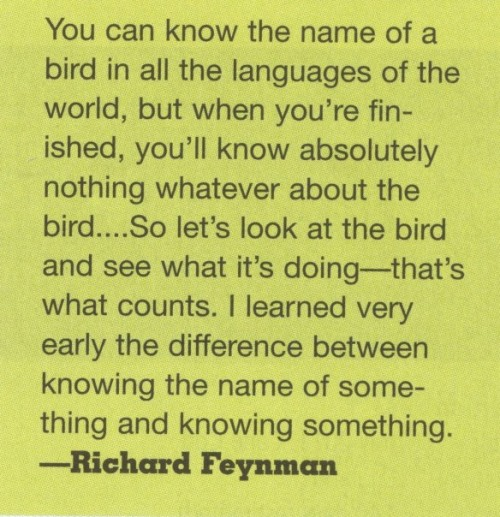 Feynman quote from Linux Journal